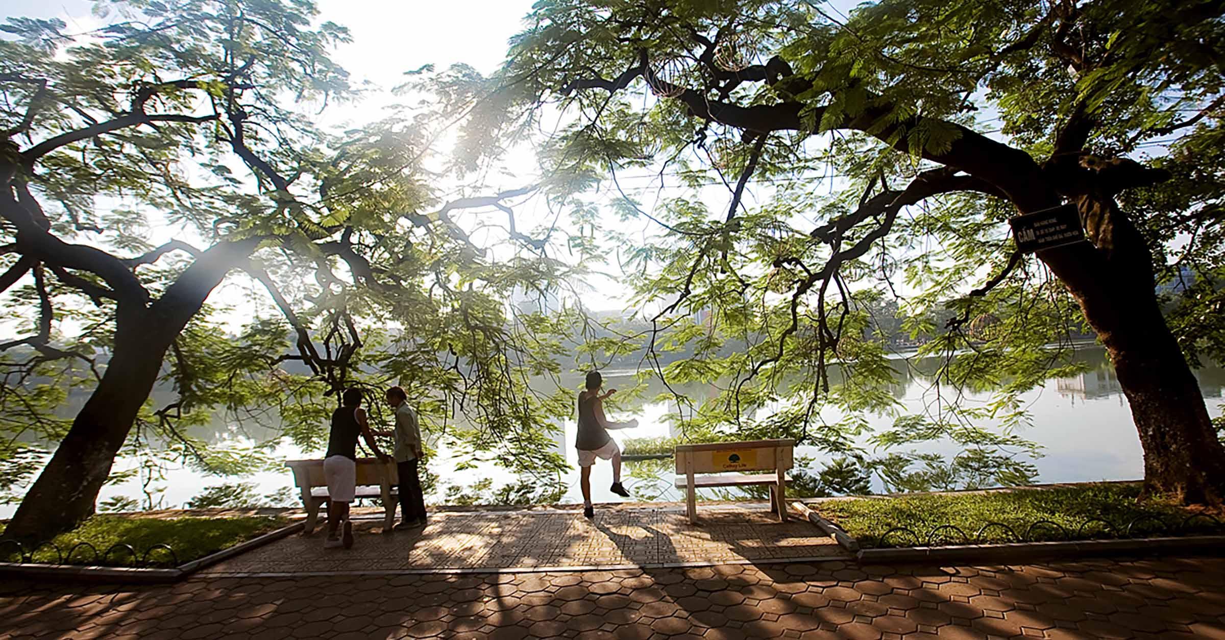 Hanoi tour in summer - Hoan Kiem Lake