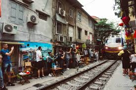 Hanoi tour in summer - Train Street